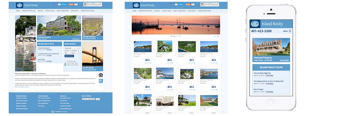 Island Realty website designed by CC inspire
